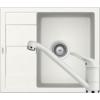 Kép 1/6 - Schock Ronda D-100 Mosogató 580 x 500 mm és Schock Cosmo Csaptelep Alpina Cristalite Szett