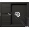 Kép 1/6 - Schock Ronda D-100 Mosogató 580 x 500 mm és Schock Cosmo Csaptelep Nero Cristalite Szett