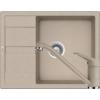 Kép 1/6 - Schock Ronda D-100L Mosogató 650 x 500 mm és Schock Cosmo Csaptelep Sabbia Cristalite Szett