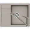 Kép 1/6 - Schock Ronda D-100L Mosogató 650 x 500 mm és Schock Cosmo Csaptelep Beton Cristalite Szett