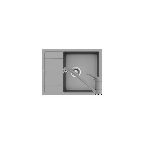 Schock Ronda D-100L Mosogató 650 x 500 mm és Schock Cosmo Csaptelep Croma Cristalite Szett
