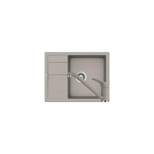 Schock Ronda D-100L Mosogató 650 x 500 mm és Schock Cosmo Csaptelep Beton Cristalite Szett